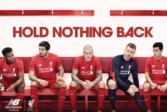 No Gerrard in Liverpool Kit Shot