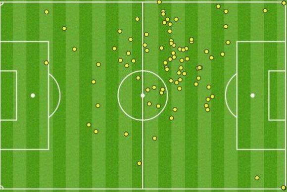 Rooney v Slovakia Touchmap