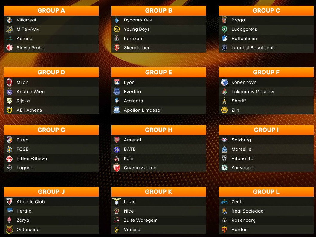 Europa League Group Stage Draw 2017 2018