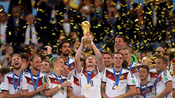 Germany lifts the trophy in 2014
