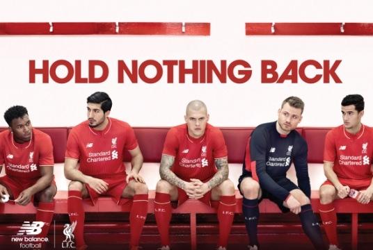 No Gerrard in Liverpool Kit Shot