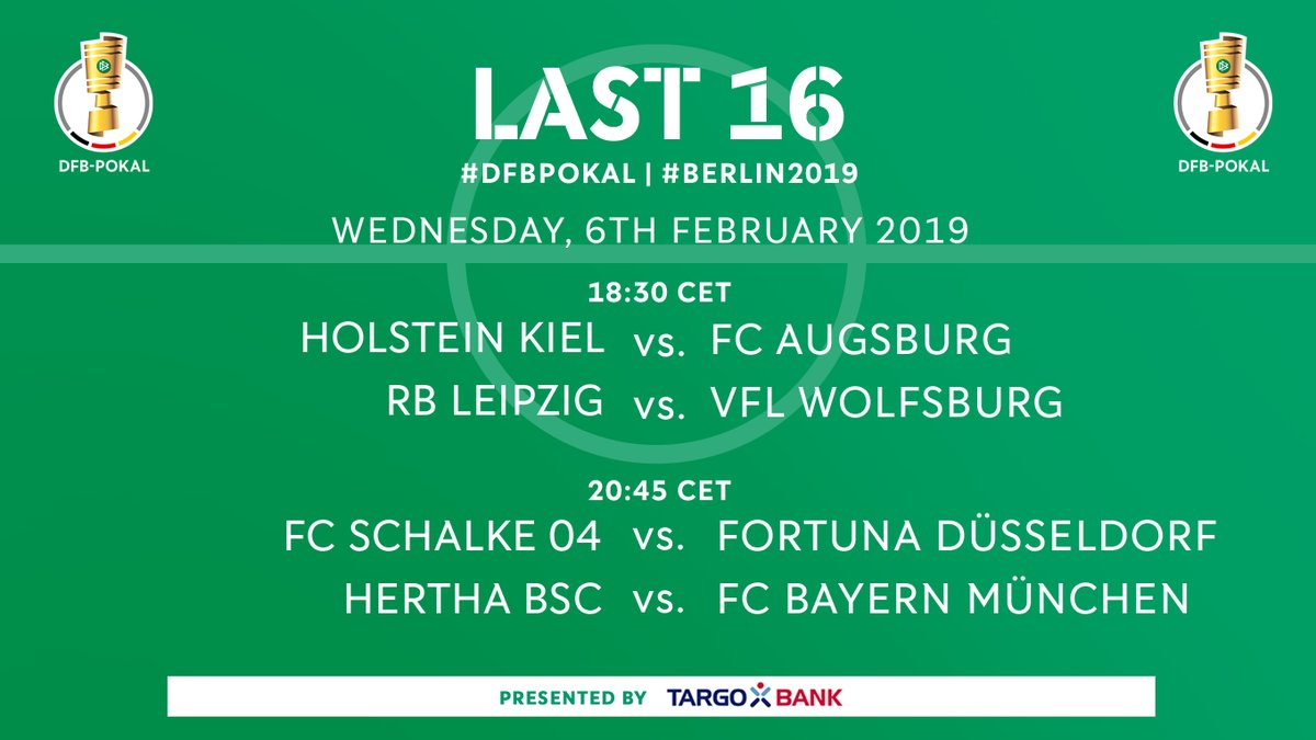 German Cup Round of 16 Draw 18 19