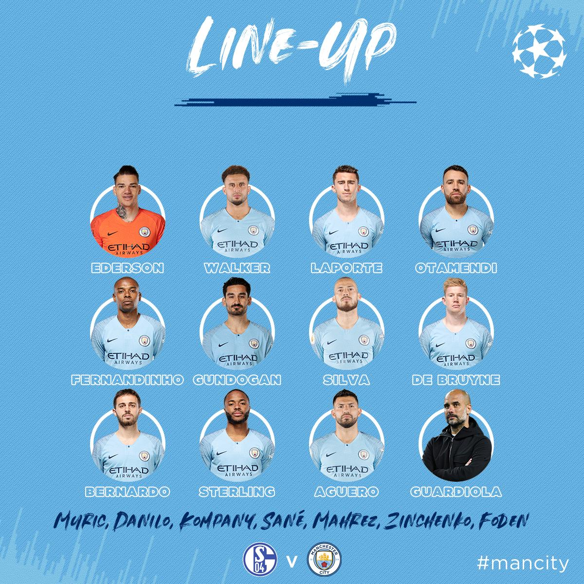 Man City XI v Schalke