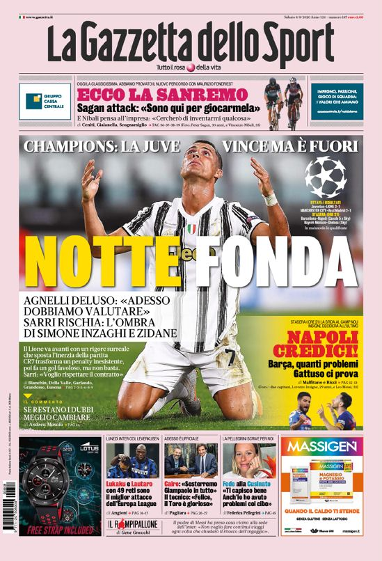 Gazzetta Headline Juve Lyon